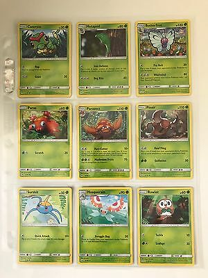 Pokemon TCG Sun and Moon - Complete Set 110 Cards - Rare, Uncommon, Common