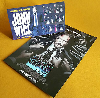 John Wick Chapter Two 2017 Korean Special Mini Movie Posters Movie Flyers