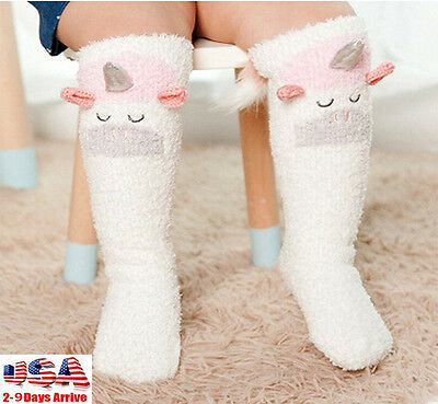 Baby Toddler Kids Animal Warm Knee High Floor Socks Tights Leg Warmer Stockings
