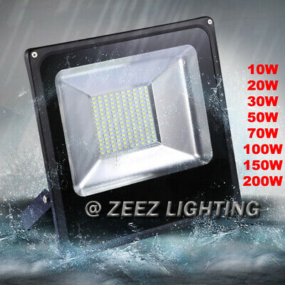 10W 20W 30W 50W 70W 100W 150W 200W LED Flood Light Outdoor Garden Wall Spot Lamp