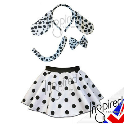 Girls WORLD BOOK DAY Costume UK 101 Dalmatians Fancy Dress Or Ears and Tail set