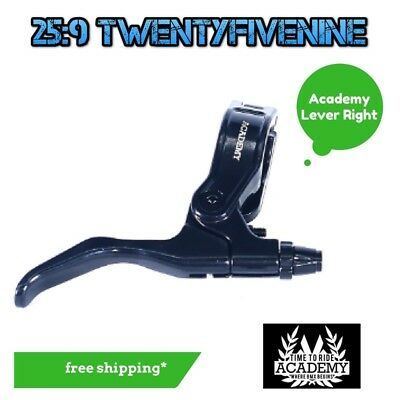 Academy BMX Left & Right Brake Lever Right Hand - Hinged Clamp Black