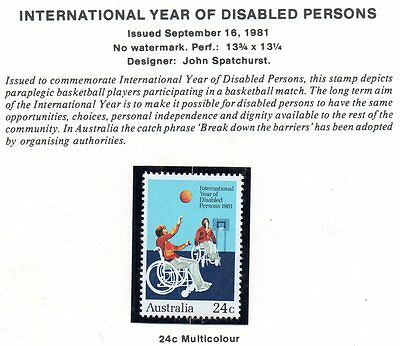 Australian stamps 1981 year of disabled mint