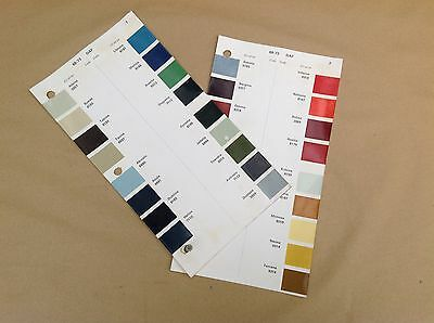 Daf ICI Classic Car Paint Colour Chip Chart Pages 1968 - 1972  DAF