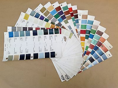 Ford ICI Classic Car Paint Colour Chip Chart Pages 1968 - 1983   Escort Cortina