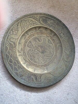 Large Old Metal Plate