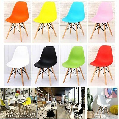 4 x Wooden Chair Retro Lounge Dining Room Set Table Chairs Home Office Coffee UK