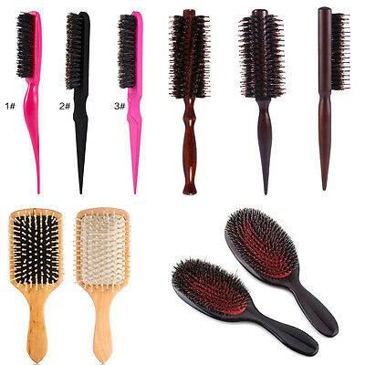 Professional Salon Wooden Antistatic Hairdressing Styling Hair Extensions Brush