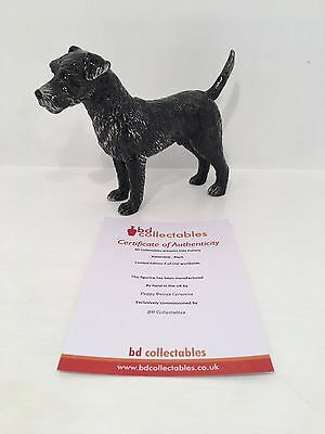 Elite Pottery Black Patterdale Terrier Figurine LIMITED EDITION and COA 4 of 150