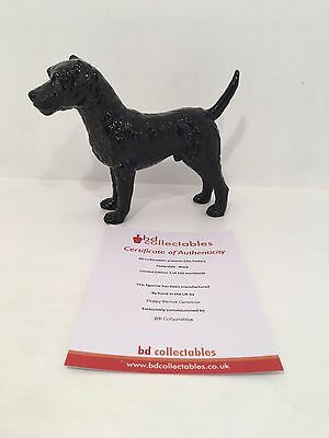 Elite Pottery Black Patterdale Terrier Figurine LIMITED EDITION and COA 7 of 150