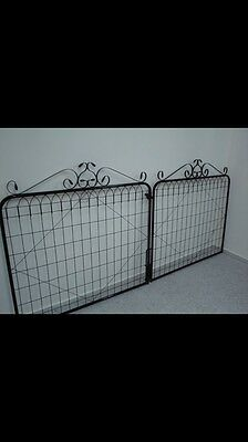 Driveway Gates - White Gloss Powder coated - Pic For Style Sample - Colour WHITE