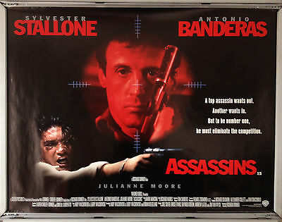 Cinema Poster: ASSASSINS 1995 (Quad) Sylvester Stallone Antonio Banderas