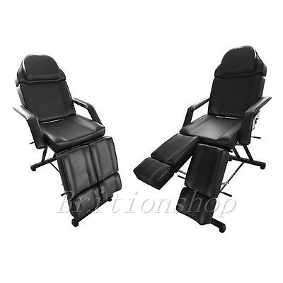 Beauty Salon Chair Balance Massage Table Facial Treatment Tattoo Couch Bed Black