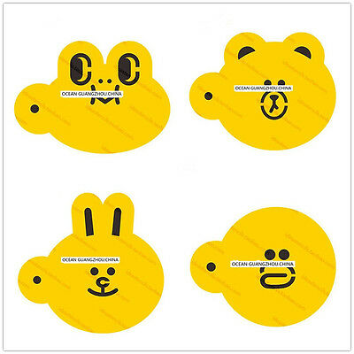 4 Pcs Packed Animal Head Cookie Cake Stencil Decorate Mould Fondant Biscuit Tool