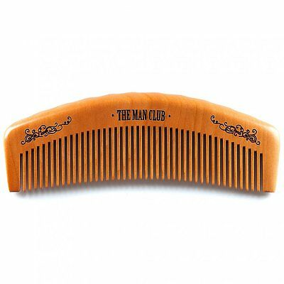 Apothecary 87 The Man Club Barber Comb - High Quality Wooden Hair/Beard Comb
