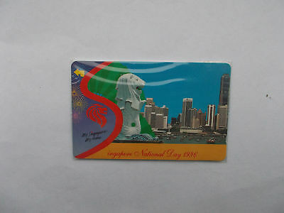 Mint Singapore $2 Phonecard, National Day 1996