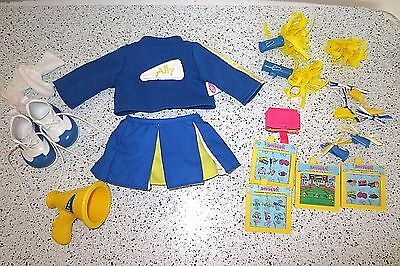 Amazing ALLY Doll Cheerleader Clothes Shoes Cartridge  Barrettes ++  Lot G6