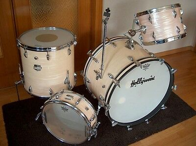 Hollywood by Meazzi President Drum Shell Kit 22,13,16 + 14 Snare Drum,Vintage