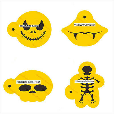 4 Pcs Packed Halloween Cookie Cake Stencil Decorate Mould Fondant Biscuit Tool