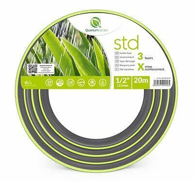 "1/2"" 20M Reinforced Garden Hose Pipe For Plants Watering Outdoor - Std"