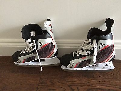 Mens black, white and red SBK DK6 Ice Hockey boots size 45 (UK 10)