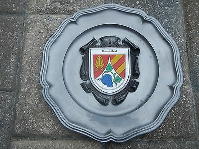 German Pewter Ramsthal Germany Wall Plate~ GES GESCH