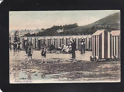 Jersey - Bathing at Jersey - J.W.S. 1083 - Very Good Unposted