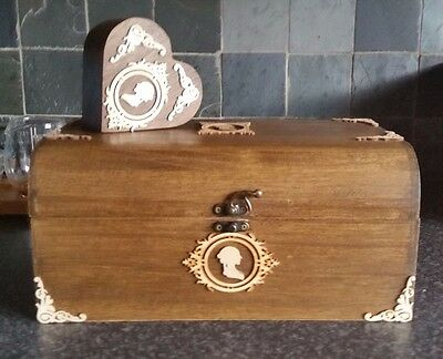 30cm Large Storage Chest With Heart Trinket Box