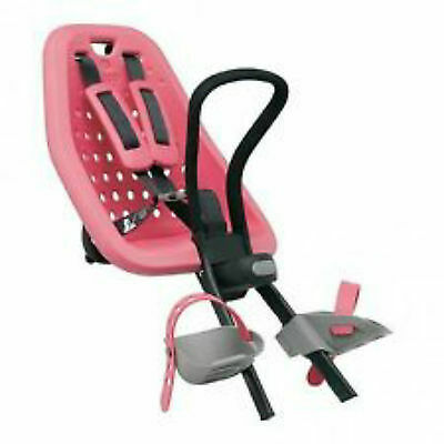 "QUALITY BIKE CHILD SEAT FRONT MOUNT YEPP MINI PINK MAX WEIGHT 15kg ""Ahead"" ONLY"