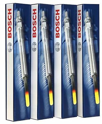 A SET OF 4 Bosch Heater Glow Plugs 0250203002 VAUXHALL CORSA D 1.3CDTI 2007