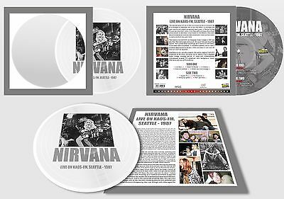 NIRVANA - Live On KAOS FM, Seattle - 1987. New Picture Disc + sealed ** NEW **