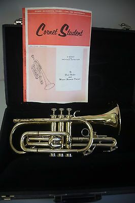 USA Blessings XL Cornet With Blessing Transport Case And Music Book