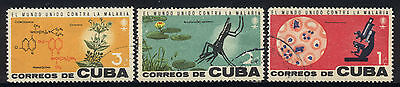1962 1CUBA COMPLETE SET OF 3 USED STAMPS (Michel # 817-819)