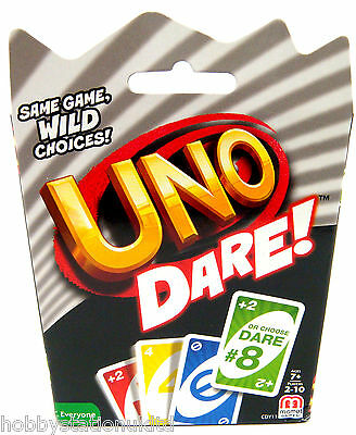 Mattel Uno Dare Card Game with Cards Uno Card Games Great Family Fun for All New