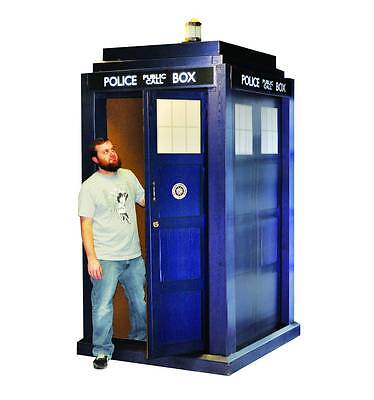 "Doctor Who 3D Life Size Tardis 55"" x 108"" Made Heavy Duty Cardboard New In Box"