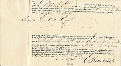 Holland - Amsterdam 1832, Scarce Bill Of Lading , See..    #a2462
