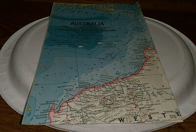 1963 Australia Atlas Plate 59 Map Cartographic Division National Geographic htf