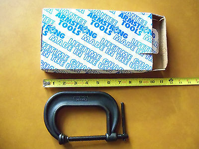 "Armstrong 3"" C-Clamp New ARMSTRONG 78-403 Deep Throat USA Tool more than 1 avail"