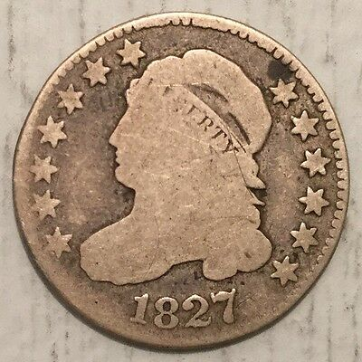 1827 10C Capped Bust Dime