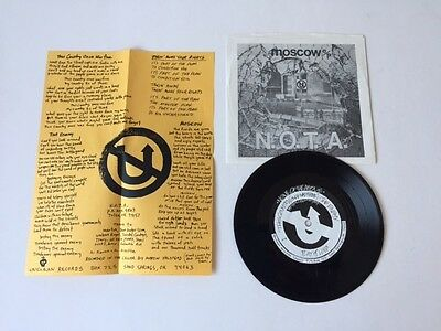 None Of The Above (N.O.T.A.) - Moscow 7 inch PS + insert (Hardcore / punk)