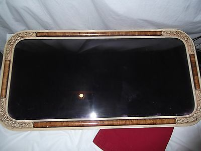 """Antique Brown And Ivory Color Wood Picture Frame,33"""" By 17"""" With Glass,  Dimens"""