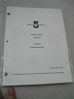 Vintage Television TV Script #56 Sci Fi  Babylon 5 Divided Loyalties  #220