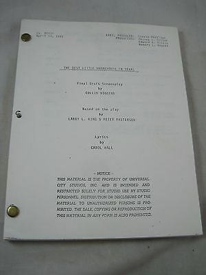 Vintage Movie Script Screenplay #60 The Best Little Whorehouse in Texas 1981