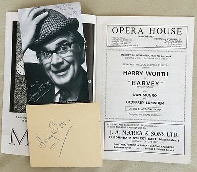 HARRY WORTH. Genuine Autograph COA. + Programme. Opera House Manchester.