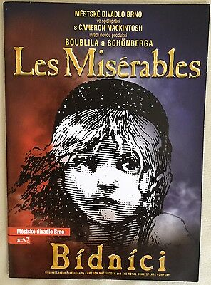 LES MISERABLES Prague Programmme 2004.