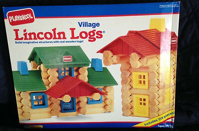 New  Playskool Lincoln Logs VILLAGE  159 Pieces