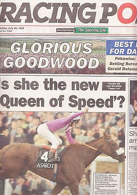 Racing Post Newspaper - Tuesday July 28, 1998