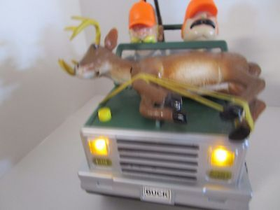 Hunters Jeep Musical Deer on front sings Jeep bounces headlights riffles cooler