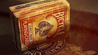 Bicycle Vintage 1800 Red Marked Deck Custom Playing Cards - Ellusionist 3rd Gen$