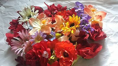 Artificial flower heads job lot faux fake silk flowers craft wedding artificial flower heads wholesale job lot craft fake faux decoration wedding mightylinksfo